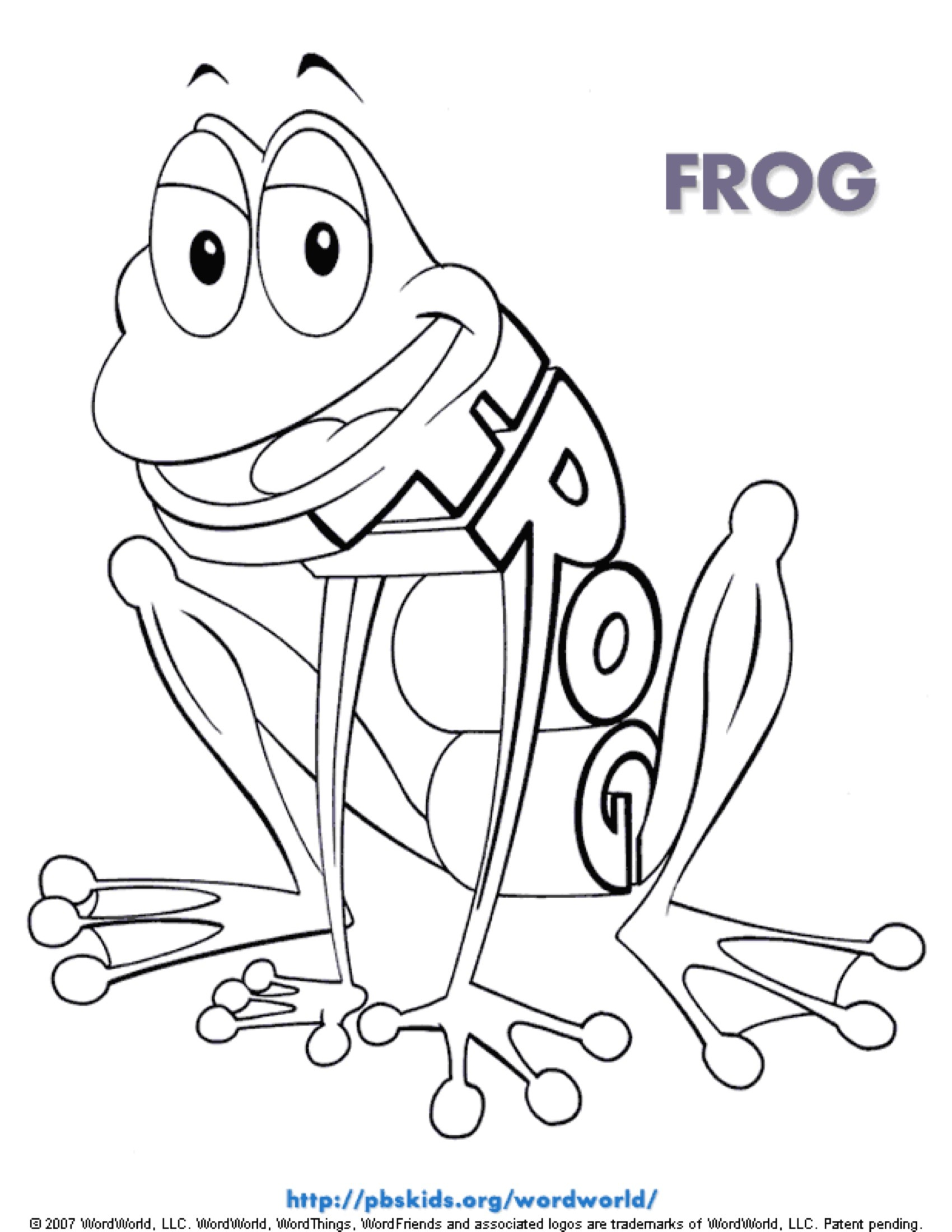 Frog Coloring Page | Kids Coloring Pages | PBS KIDS for Parents