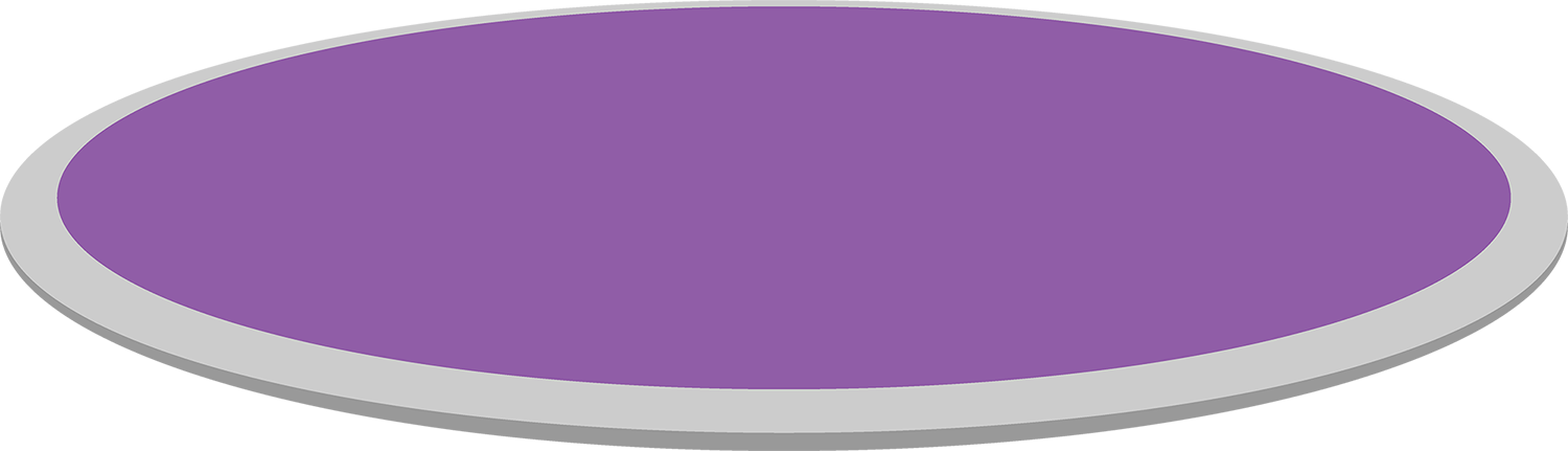 The purple ground is soft and easy to run on.