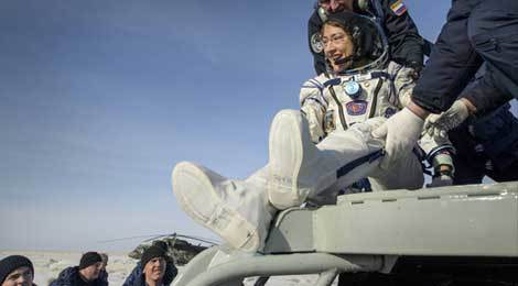 Christina Koch has returned to Earth from the ISS after logging 328 days in space! That's the longest spaceflight in history by a woman.