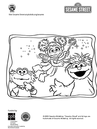 Art sesame street pbskids for Pbskids coloring pages