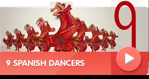 9 Spanish Dancers