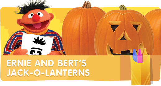 Bert and Ernie Jack-O-Lanterns