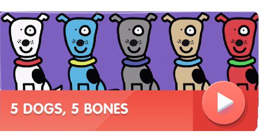 5 Dogs, 5 Bones