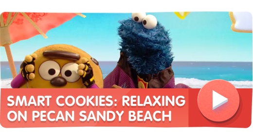 Smart Cookies: Relaxing on Pecan Sandy Beach