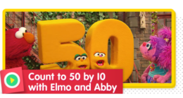Counting to 50 by 10 with Elmo and Abby
