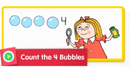 Count 4 Bubbles