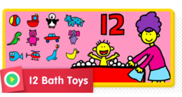 12 Bath Toys