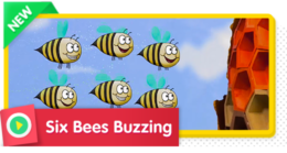 Six Bees Buzzing