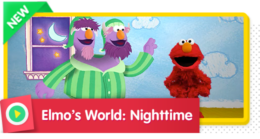 Elmo and Grover discover the different parts of Nightime, like stars, animals, and sleep.