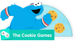 Compete in ring spin, hurdles, and archery with Cookie Monster!