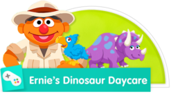 Imagine you can go back in time and play with dinosaurs!