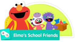 Play with Elmo and his friends at school.