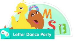 In this game, your child can practice letter recognition and dance with Big Bird and Snuffy.