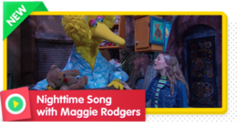 Maggie Rodgers sings Nightime as everyone on Sesame Street winds down for bedtime.