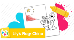 Color Lily's flag.