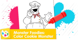 Oh boy, oh boy! Cookie Monster can't wait to cook delicious foods in his foodie truckie!
