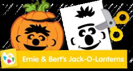 Make Bert and Ernie Jack-O-Lanterns!