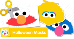 Practice your best Elmo, Grover, Big Bird or Oscar impression with your mask.