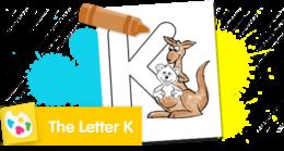 Print and color Baby Bear and Kangaroo.