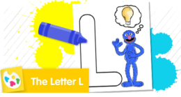 """Color Grover and the letter """"L."""""""