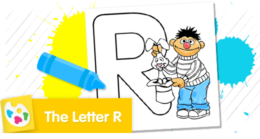 Color the letter R.