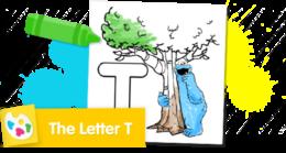 Color the letter T.