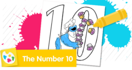 Color the number 10.