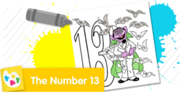 Color the number 13.