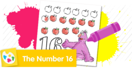 Count 16 apples with Telly.