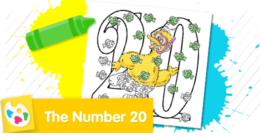 Color the number 20.