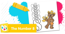 Color the number 8.