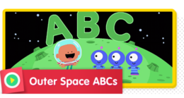 Learn the alphabet in outer space.