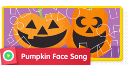 There are so many faces you can make on a pumpkin using shapes!