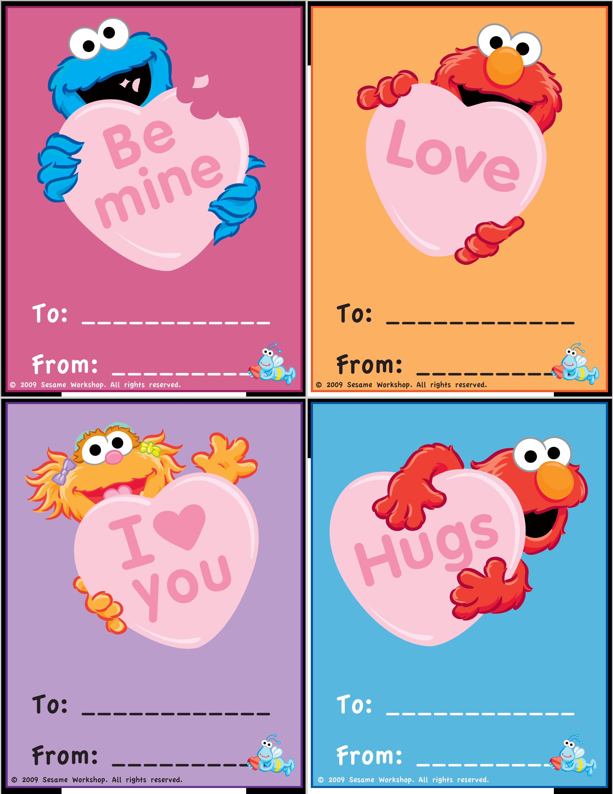 image about Valentines Day Cards Printable titled Artwork Sesame Highway PBSKids