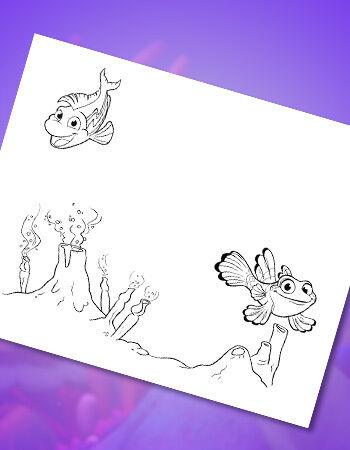 Deep Sea Creatures Coloring Page